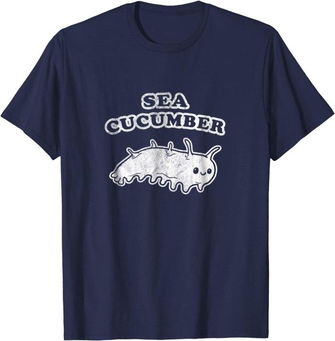 Retro Sea Cucumber T-Shirt by Turbo Volcano