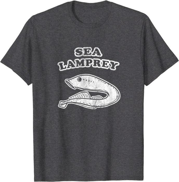 Retro Sea Lamprey by Turbo Volcano Vintage T-Shirt