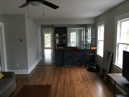 New opening to kitchen