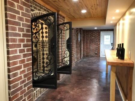 New wine hall and storage cave