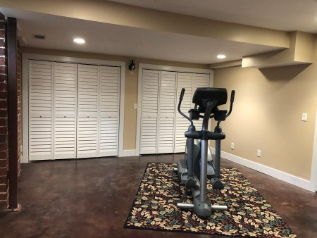 Exercise room after