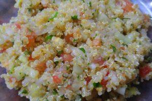 Tabule de quinoa vegano
