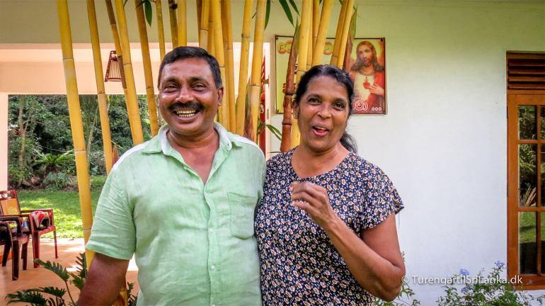 Besøg i et privat hjem i Sri Lanka