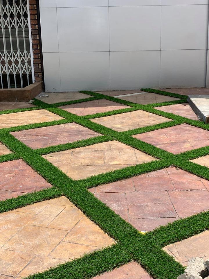 Grass Tiling - After