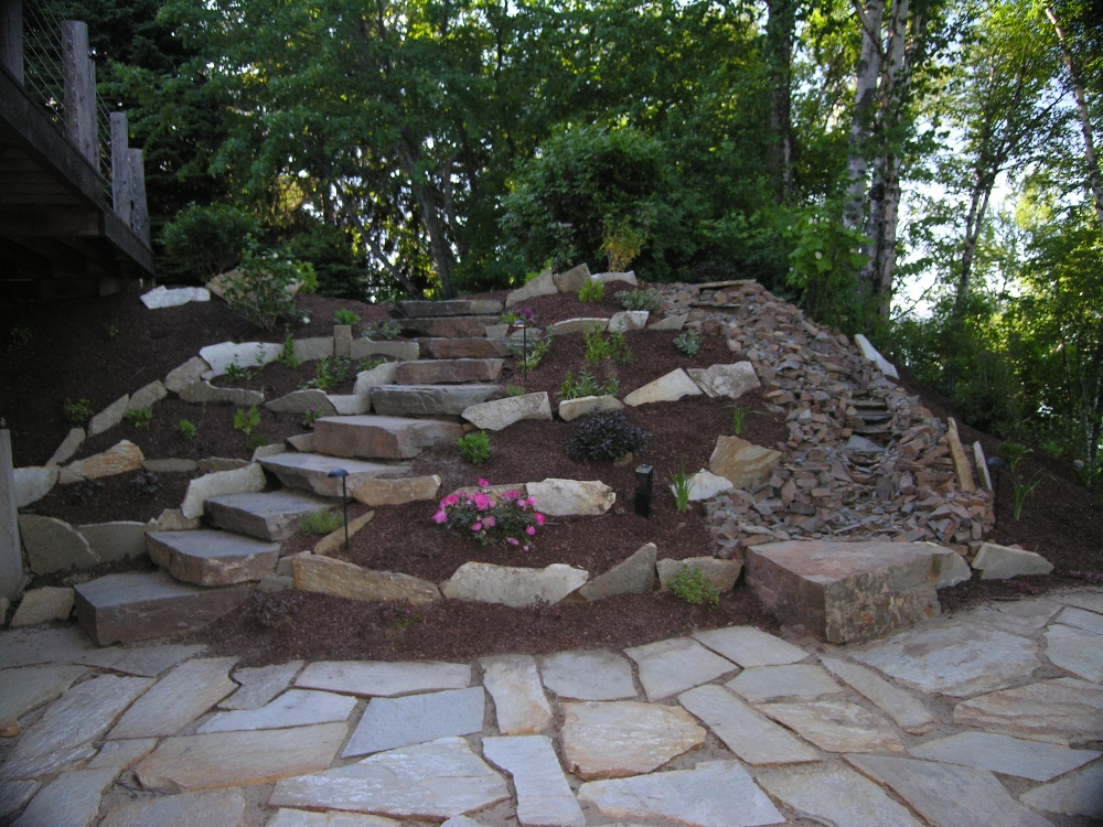 Natural Rock Walkways & Patios - Turfcare Landscaping in ... on Landscaping And Patios  id=85128