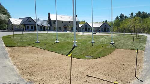 commercial sod installation portfolio image of a location in Rome ME