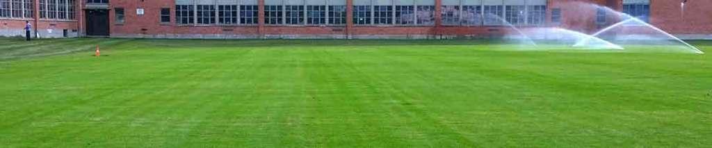 image of sod installed on school soccer field