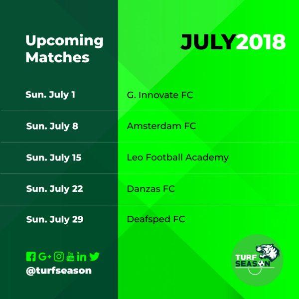 turfseason 2018 - july games