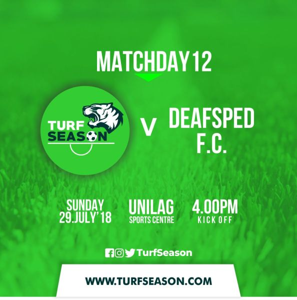 TURF DAY - DEAFSPED MATCHDAY12