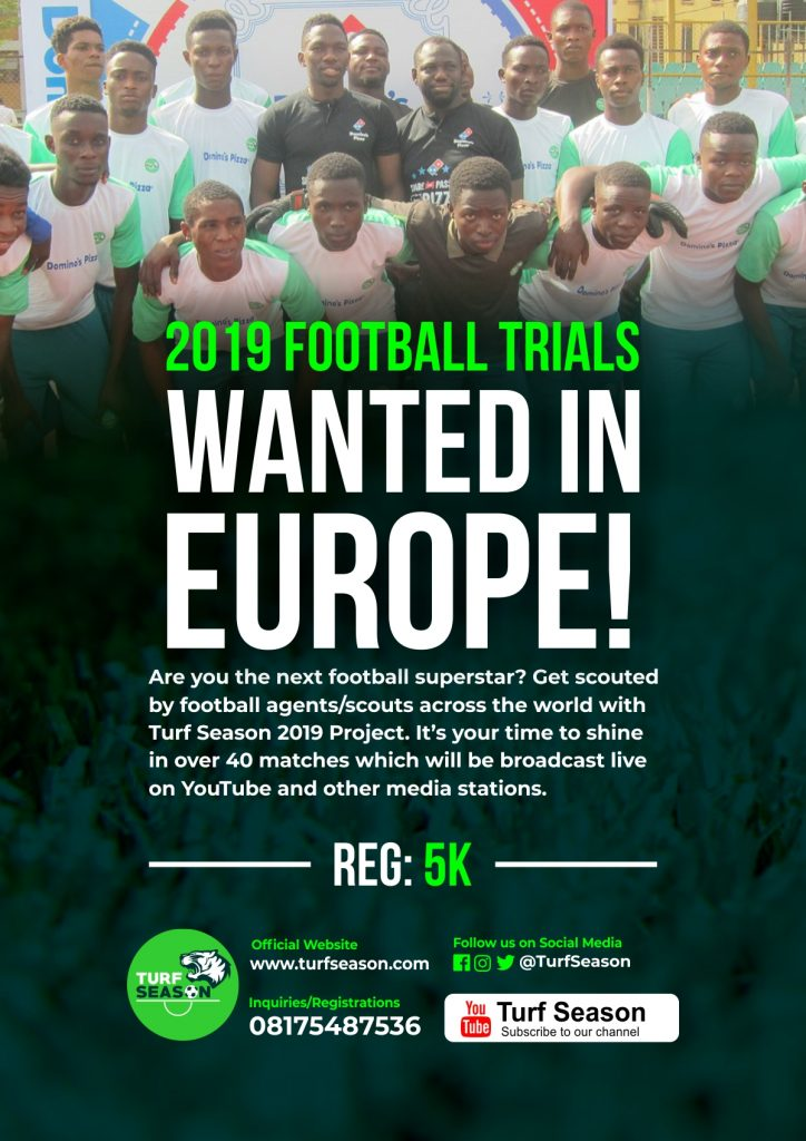 Turf Season 2019 Football Trials