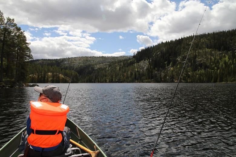 Lang fin dag i kano