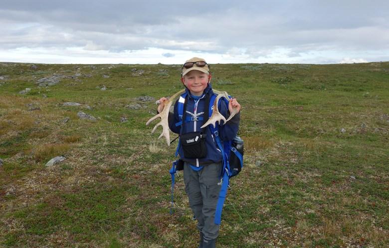 Marius finner noen reinhorn han skal ta med til hjem til hytta