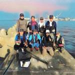 大人の遊びの沖堤防ランガンで午前は海津クラブの皆さんと前打ちで午後からは目印落とし込みと1日釣り三昧