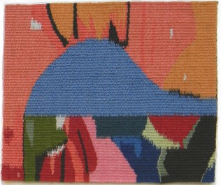 "Indicators. Wool Tapestry. Natural Dyes. 8.25""x9.5"""