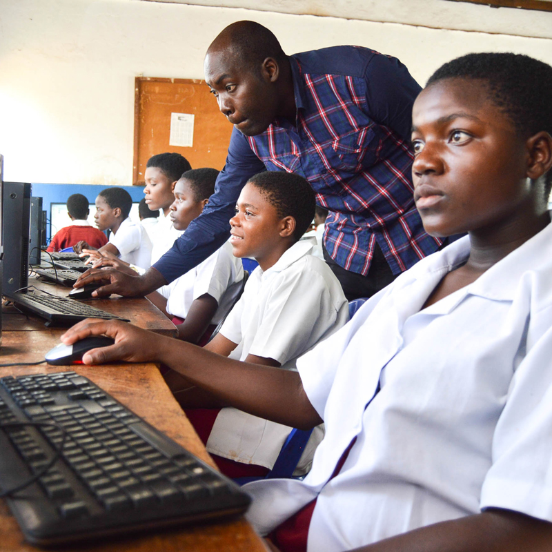 Computer lab Lunjika Adventist Secondary School