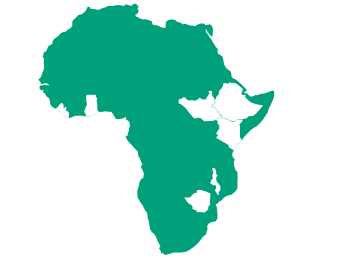 Map of Africa to show countries The Turing Trust has worked in