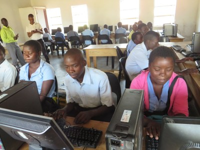 Computer lab at Nkhomboli Community Day Secondary School