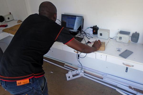 Technician checkin equipment in SolarBerry