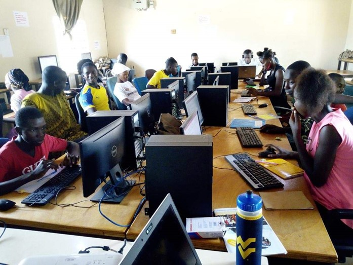 Computer lab in Jarra, The Gambia