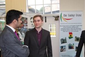 James Turing meets Humza Yusaf at The Turing Trust premises in Edinburgh