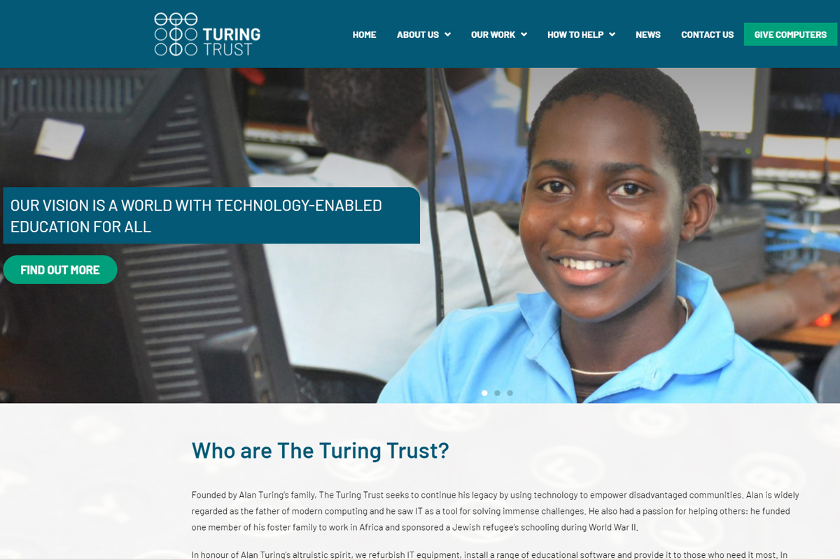 The Turing Trust New Website and Logo