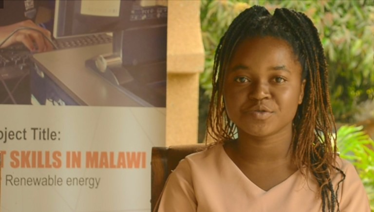 Ellness talks about the power of girls in Malawi studying ICT