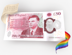 Bank of England design for the new £50 note fetauring Alan Turing