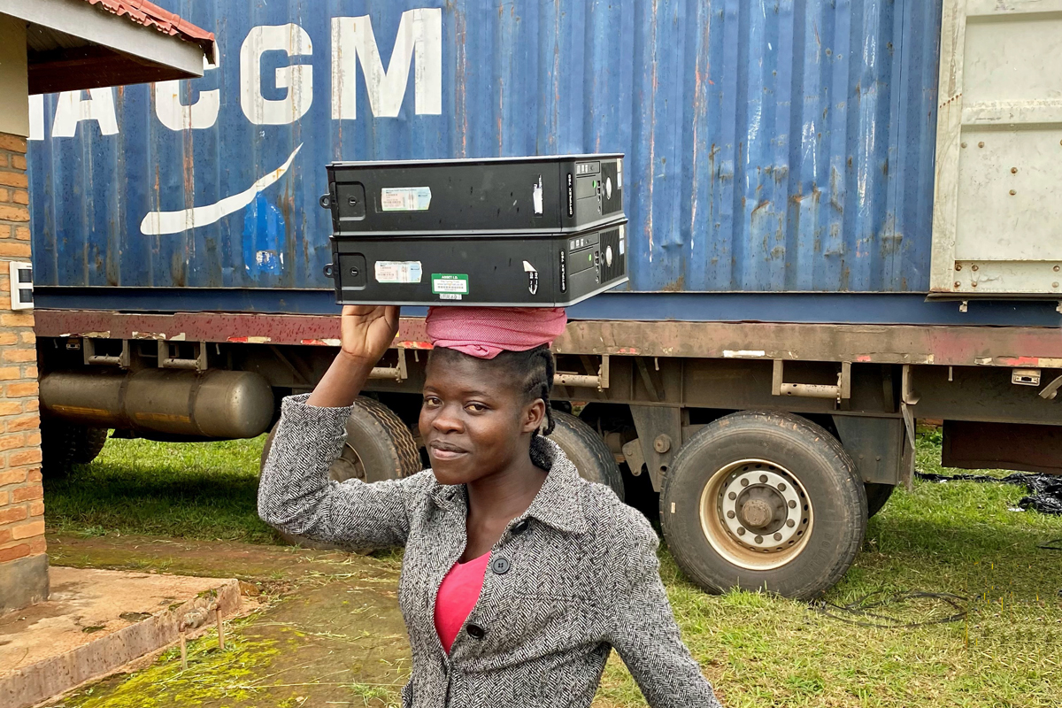 More Computers from The Turing Trust Arrive in Malawi