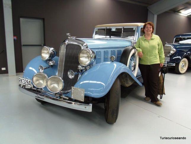 Wanaka. Uno de los elegantes vehículos del museo Warbirds & Wheels