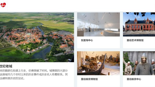 Skærmdump af VisitRibe.cn