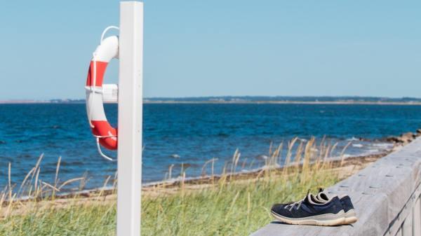 Billede fra Hvalpsund Færgekro strand. (PR-foto: Visit Nordjylland)