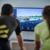 Virtuel cykling kan foregå i stuen eller ved events. (Foto: Bkool)