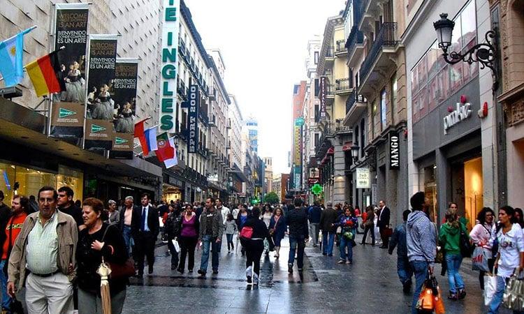 Gran via em Madrid