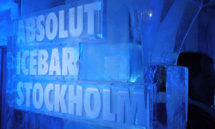 Bar de Gelo em Estocolmo