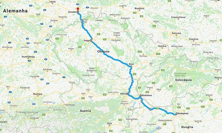 Roteiro de viagem de ônibus na Europa
