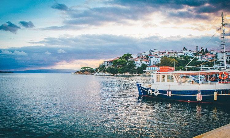 Skiathos na Grécia