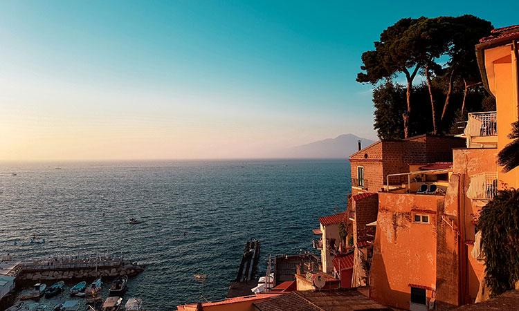 Cidade de Sorrento na Itália