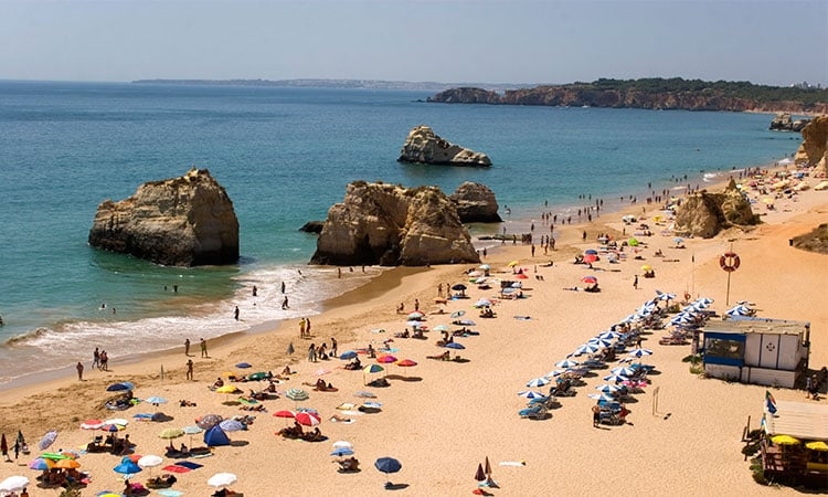 albufeira em portugal praias