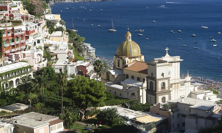 Positano na Itália é um dos lugares românticos na Europa