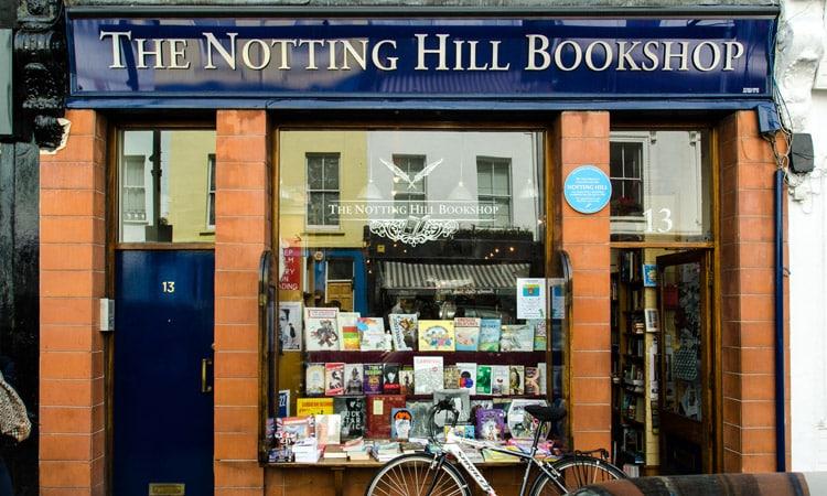 livraria notting hill em londres
