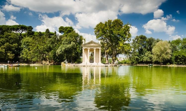 villa borghese para ver de graca em roma