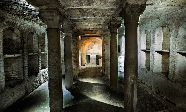 visitar as catacumbas de roma