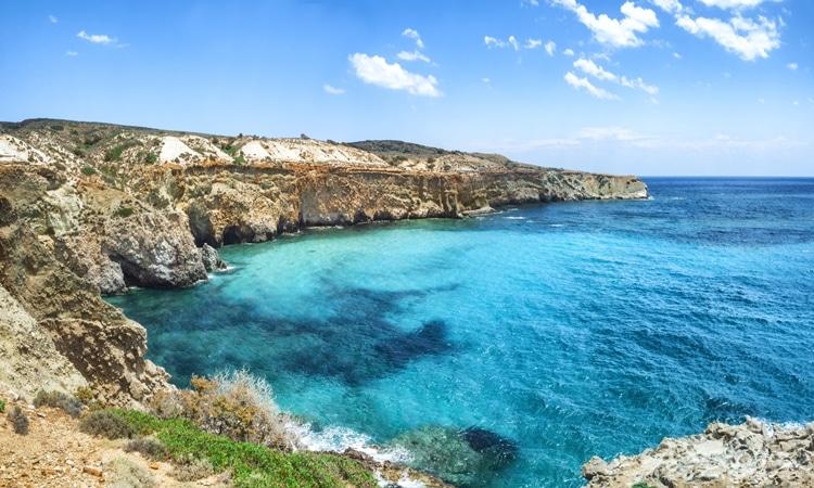 praias da grecia tsigrado milos