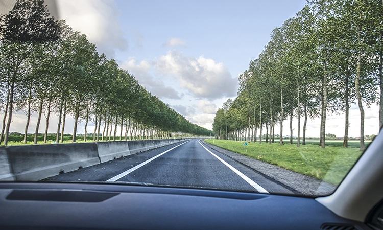 Viagem de carro na Holanda