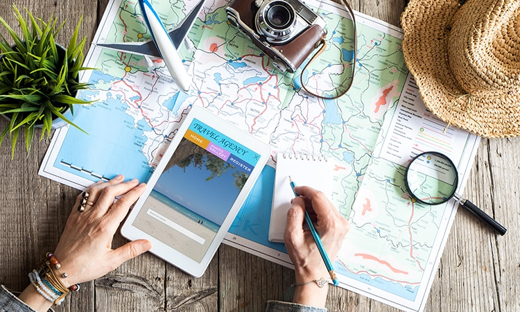 passagens aéreas na Kayak planejamento