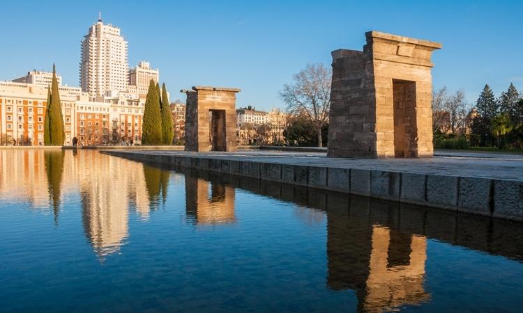 Templo de Debod Madrid vista