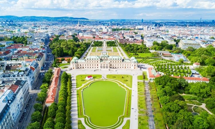 Palácio Belvedere paisagem