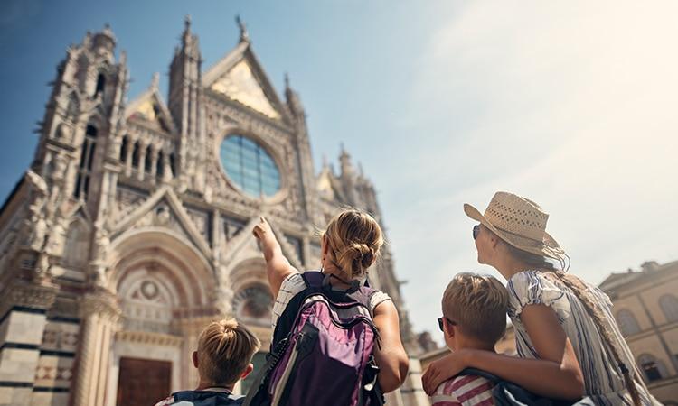 Itália com crianças Toscana