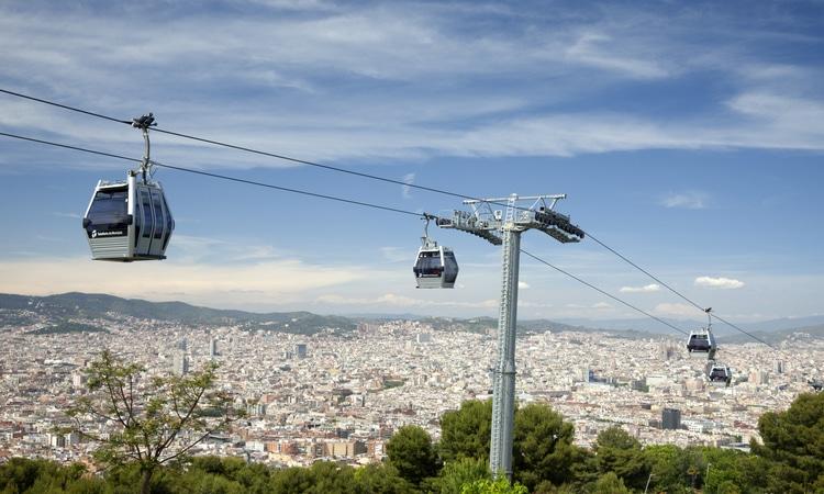 teleférico em Barcelona