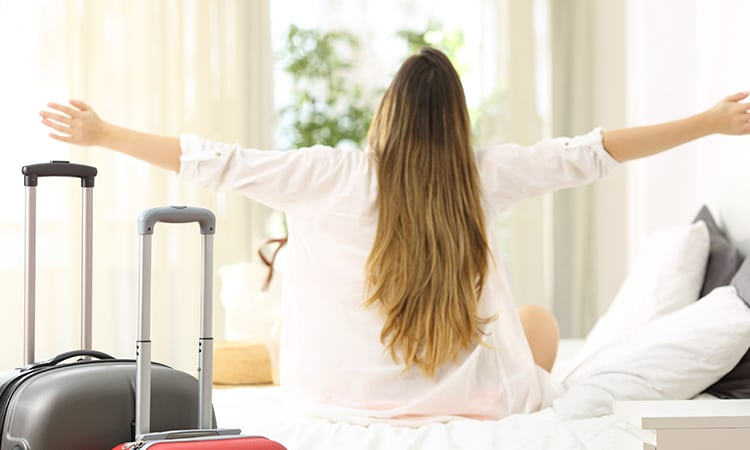 Booking é confiável quarto de hotel